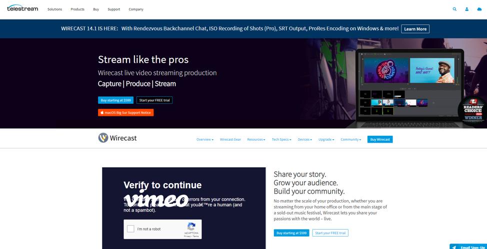 Wirecast (Pro and Studio)